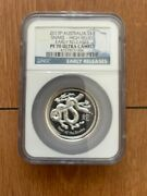2013-p Australia 1oz And039year Of The Snakeand039 High Relief Ngc Early Releases Pf 70 Uc