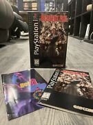 Resident Evil Sony Playstation 1 Ps1 1996 Long Box Complete Manual Registration