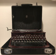 Antique 1936 Smith Corona Red Maroon Sterling Vintage Typewriter 1a12179