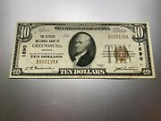 Greensburg Indiana 1929 National Note. Charter 1890.