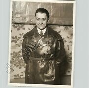 Wwi French Pilot Hero Gaston Fayolle In Leather Jacket W Medals 1928 Press Photo