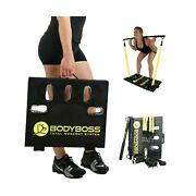 Bodyboss Home Gym 2.0 - Full Portable Gym Home Workout Package 1 Set Of Resi...