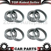 Timken 4x Front Inner Outer Wheel Bearing Set Fits Harvester Scout Ii 1975-1980