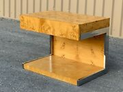 Mid Century Modern 1970and039s Umanoff Dillingham Burl Wood Side / End Table