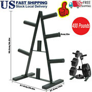 Olympic 2 Inch Plate Storage Rack Weight Plate Tree Barbell Bar Stand Holder