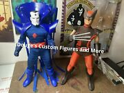 Custom X-men Wolverine And Mr. Sinister Built On New Mego 8 Inch Body Parts