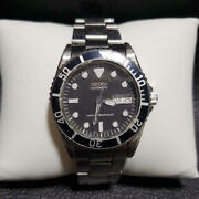 Seiko Diver's 7s26-0050 Day-date Automatic Black Dial Watch