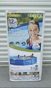 Intex 12' X 30 Metal Frame Above Ground Pool With Filter Pump New Pickup Only