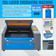 Omtech 60w 16x24 Co2 Laser Engraver Cutting Engraving Machine With 5200 Chiller