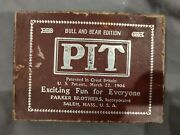 Rare Vintage 1904 Bull And Bear Card Game Parker Brothers
