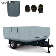 Rv Trailer Cover For Folding Pop Up Camper 16-18 Ft Trailers Waterproof