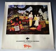 George Rodrigue Signed And Numbered Evangeline Bank Advertising Poster