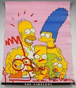 Matt Groening Drawing The Simpsons Vintage Poster Signed