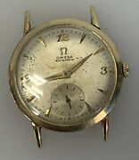 Omega Solid 14k Gold Automatic Menand039s Vintage 17 Jewel Watch Swiss Bx6520