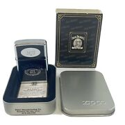 """Jack Daniels Personalized """"mjs"""" Mary Janes Light Zippo Lighter New Sealed In Box"""