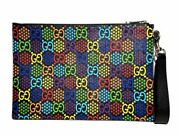 Gg Psychedelic Porch 601087 Clutch Bag Second Rainbow Multi Colored _42139