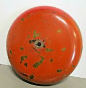 Vintage 8 Maritime Alarm Bell Cover Gong Solid Brass 2.5 Lbs Painted