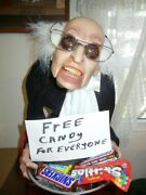 Bernie Sanders Free Candy For Everyone Animated Talking Butler Halloween Prop