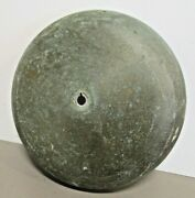 Vintage 8 Maritime Alarm Bell Cover Gong Solid Brass 2.5 Lbs Heavy Patina
