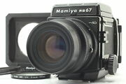 【mint W/ Bellows Hood 】 Mamiya Rb67 Pro Sd Kl 90mm + 6x8 Back From Japan 594