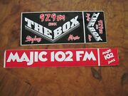97.9 The Box And Majic 102 Radio Station Bumper Stickers Houston Texas 90and039s Os
