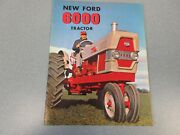 Ford 6000 Farm Tractor Brochure    Very Neat