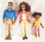Fisher Price Loving Family Sweet Sounds Dollhouse African American Mom Dad Girl