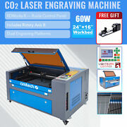 Mf1624-60 - 60w 16x24 Workbed Co2 Laser Engraver Cutter With Rotary Axis B