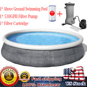 Bestway 13ft X 33in Round Above Ground Swimming Pool With Filter Pump 57375e Kit