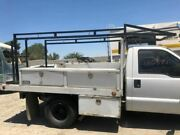 06 Ford F350 Super Duty Used 10' Ft Royal Utility Flat Bed W Ladder Rack And Boxes