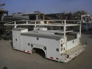 Used 11and039 Skaug Utility Service Enclosed Dually Bed Box Body From 99 C3500 Gm