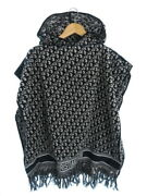 Christian Dior Oblyek Logo Made In Italy Poncho 14cdo370i901 Women And039s Wee _13089