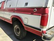 Used 8' Truck Bed From 1986 Ford F250 2 Tone Red/white No Rust Dual Tank 28331