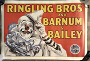 Rare New Ringling Brothers Barnum And Baileys Circus Clown Poster Greatest Show