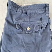Polo Mens Blue Cargo Shorts Pockets Adult Size 42t Straight