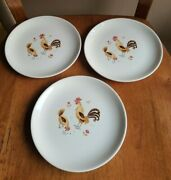 3 Vintage Taylor Smith And Taylor Break-o-day 6-3/4 Bread And Butter Plate