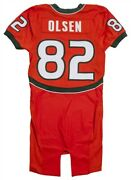 Greg Olsen Game Worn Andlsquo06 Miami Hurricanes Jersey Collegejersey.com And Team Loas