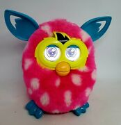 Hasbro Furby Boom Polka Dot Pink And White 2012 Interactive Toy Tested And Works