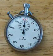 Omega 60 Minute 100th Minute Stopwatch Rare Sharp Circa 1965 Timer Tested Fine