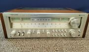 Realistic Am/fm Stereo Receiver 200 Watts Sta-2100d Wooden Cabinet Vintage Read
