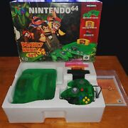 N64 Donkey Kong System Cib Controller + Game + Cables + Manuals Clean Ships Fast