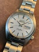 Seiko 5 Actus Silver Wave 6306-8020 Day/date Automatic Watch