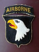 Wwii 101st Airborne Division Infantry Patch Tab Parachute Military Uniform Ssi