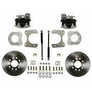 Rc4001 Leed Brakes Rear Disc Brake Kit With Plain Rotors And Zinc Plated