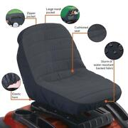 Tractor Husqvarna Lawn Riding Mower Cutter Low Back Seat Cover Cushion Case