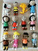 12 Pcs Charlie Brownpeppermint Pattysnoopy Peanuts And The Gang Crochet Dolls