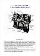 Clausing-colchester 13 Inch All-geared Head Lathes Operator Manual
