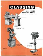 Clausing 12 3/4 Heavy Duty Precision Lathes Instruction Manual
