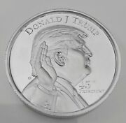 2 Troy Oz Donald Trump .999 Fine Silver Coin. Uncirculated New
