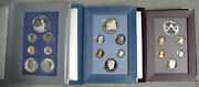 1986 1987 1988 Us Mint Prestige Proof Set Collection With Boxes And Coas